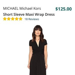 Michael Kors Black Wrap Jersey Maxi Dress